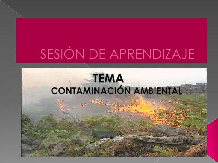 SESIÓN DE APRENDIZAJE<br />TEMA<br />CONTAMINACIÓN AMBIENTAL<br />