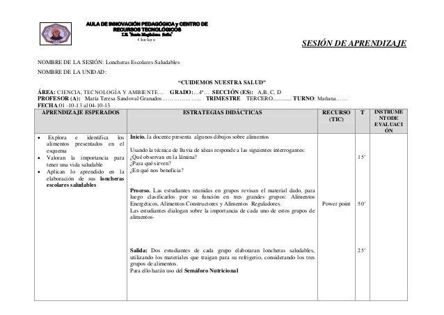 "AULA DE INNOVACIÓN PEDAGÓGICA y CENTRO DE RECURSOS TECNOLÓGICOS I.E. ""Santa Magdalena Sofía""  Chiclayo  SESIÓN DE APRENDIZ..."