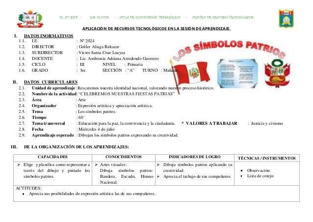 I.E. Nº 2024 -      LOS OLIVOS   -   AULA DE INNOVACIÓN PEDAGÓGICA   -   CENTRO DE RECURSO TECNOLÓGICOS                   ...