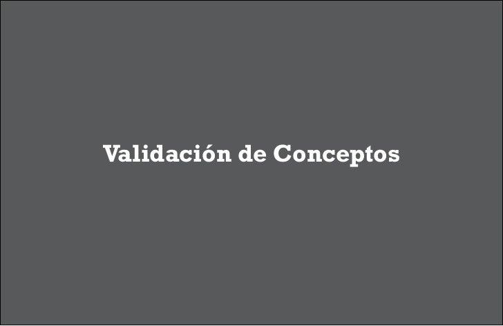 Validación de Conceptos