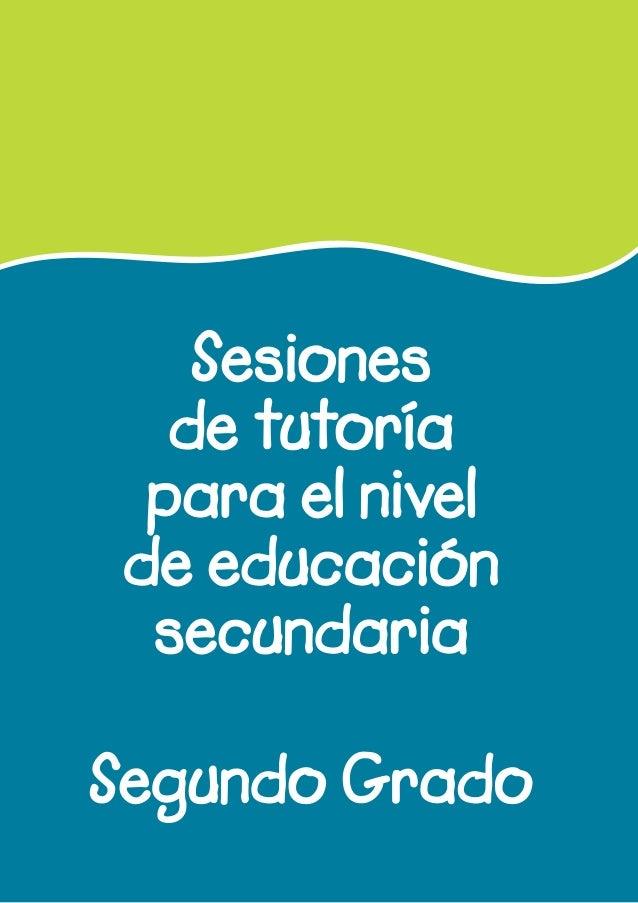 Sesiones de tutoría para el nivel de educación secundaria Segundo Grado
