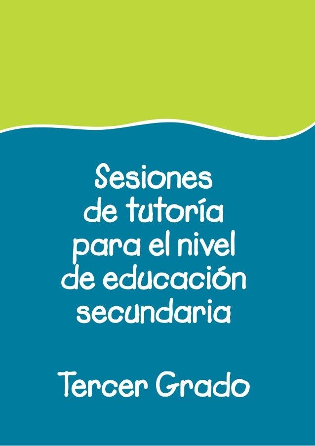 Sesiones de tutoría para el nivel de educación secundaria Tercer Grado