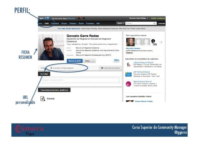 PERFIL:    FICHA  RESUMEN     URLpersonalizada                Curso Superior de Community Manager                         ...