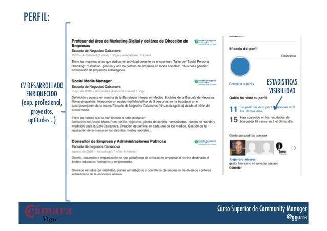 PERFIL:CV DESARROLLADO                         ESTADISTICAS  ENRIQUECIDO                            VISIBILIDAD(exp. profe...
