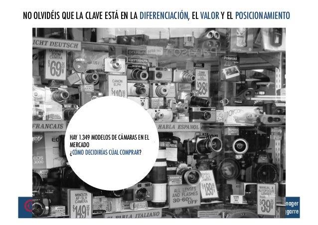 NO OLVIDÉIS QUE LA CLAVE ESTÁ EN LA DIFERENCIACIÓN, EL VALOR Y EL POSICIONAMIENTO              HAY 1.349 MODELOS DE CÁMARA...