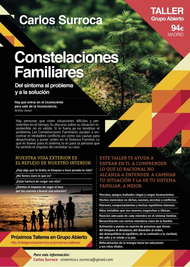 Constelaciones Familiares. Del síntoma al problema y a la solución.