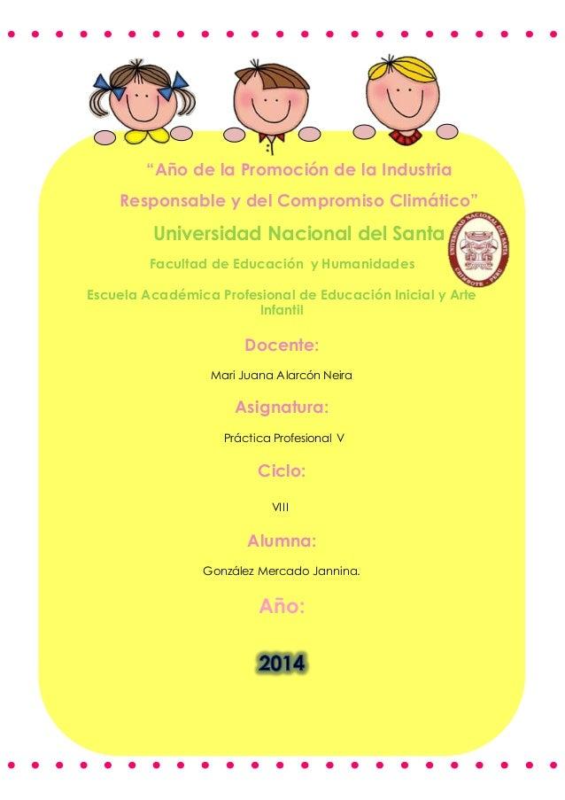 """""""Año de la Promoción de la Industria  Responsable y del Compromiso Climático""""  Universidad Nacional del Santa  Facultad de..."""