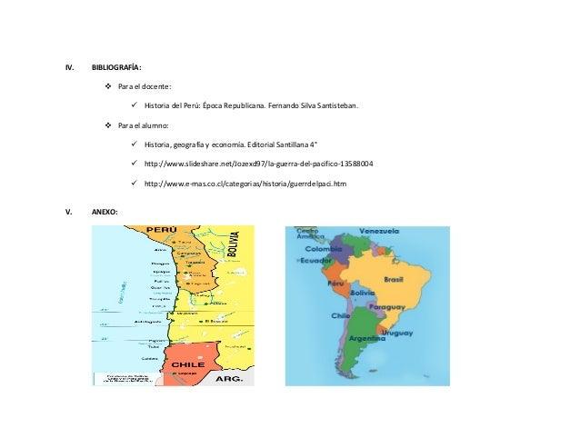 IV. BIBLIOGRAFÍA:  Para el docente:  Historia del Perú: Época Republicana. Fernando Silva Santisteban.  Para el alumno:...