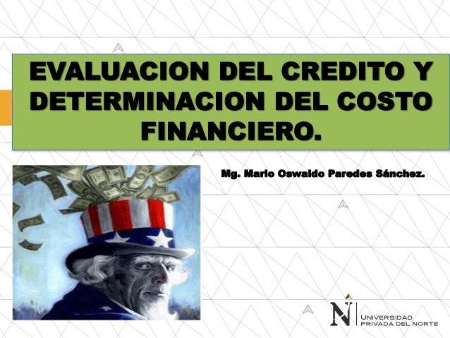 Sesion n 03 la evaluacion del riesgo crediticio y la for 1 costo del garage
