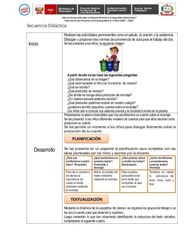 Unidad de Gestión Educativa Local N° 02 Dirección Regional de Educción de Lima Metropolitana Área de Gestión PedagógicaPER...