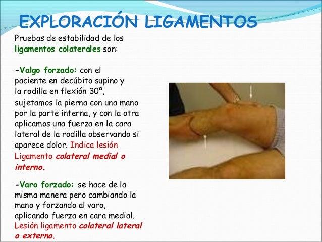 2014 11 06 exploraci n de rodilla ppt - Dolor en la parte interior de la rodilla ...