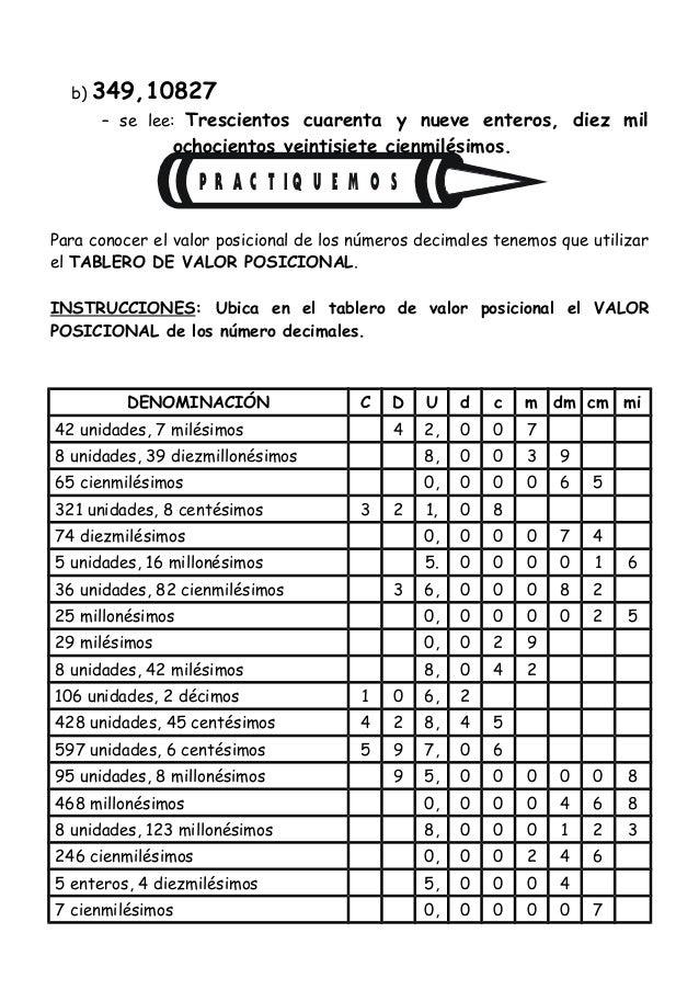 Sesion valor posicional sexto grado