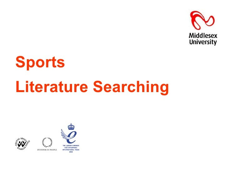 Sports   Literature Searching