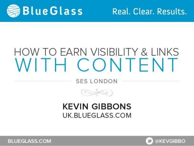 How to Earn Visibility & Links with Content                SES London