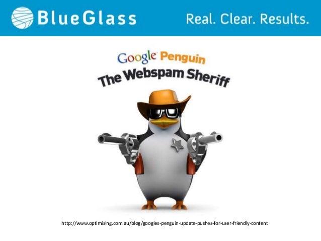 """Content marketing"" Growth vs. Penguin updates:Source: http://01100111011001010110010101101011.co.uk/2012/11/google-update..."