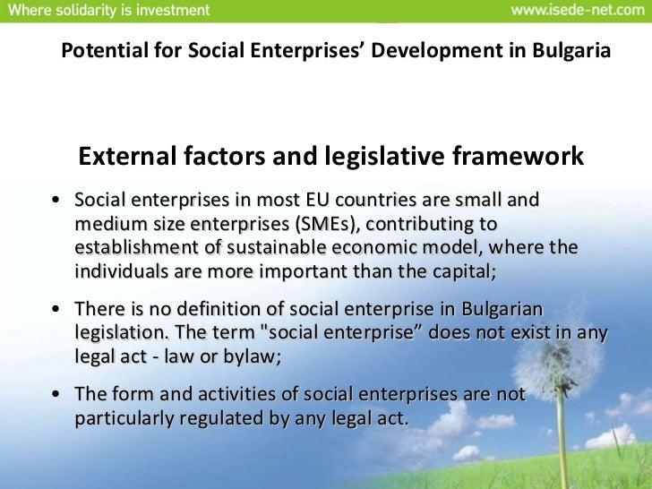 Development of Social Enterprises in Bulgaria Slide 2