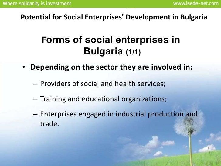 Development of Social Enterprises in Bulgaria Slide 3