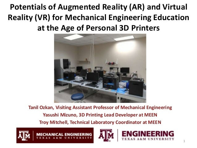 3c5892f19c1e Potentials of Augmented Reality and Virtual Reality for Mechanical  Engineering Education at the Age of Personal 3D Printers