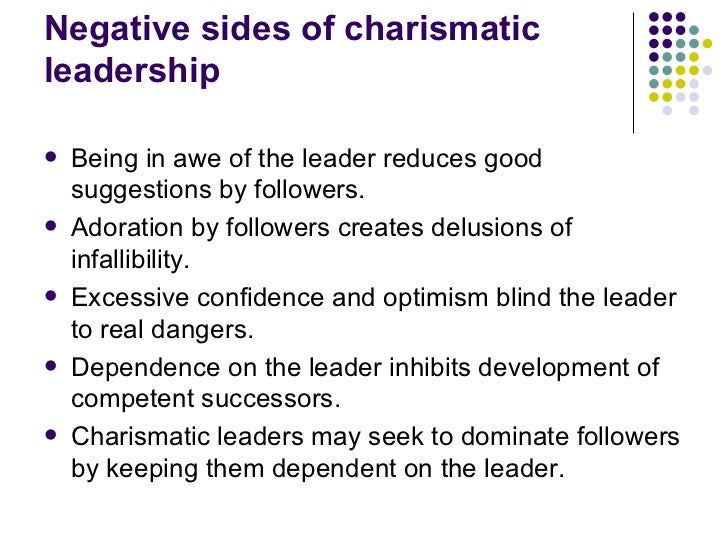dangers of charismatic leadership