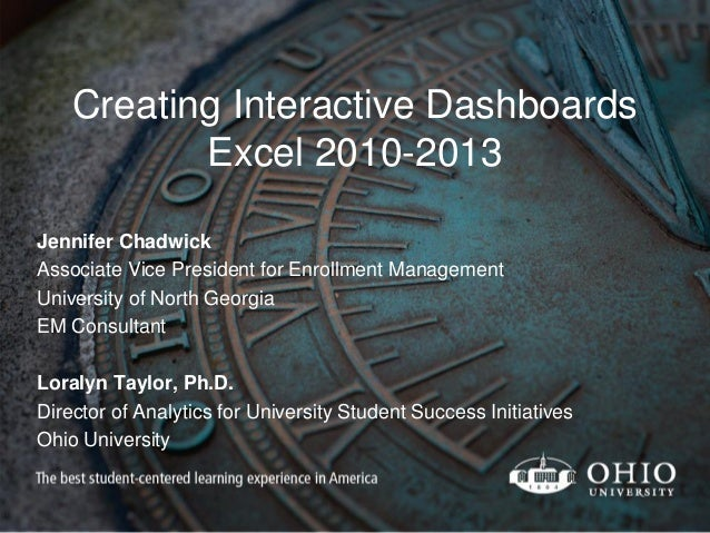 Creating Interactive Dashboards With Microsoft Excel