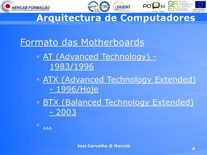 Arquitectura de computadores 3 efa 9 ano for Arquitectura de computadores