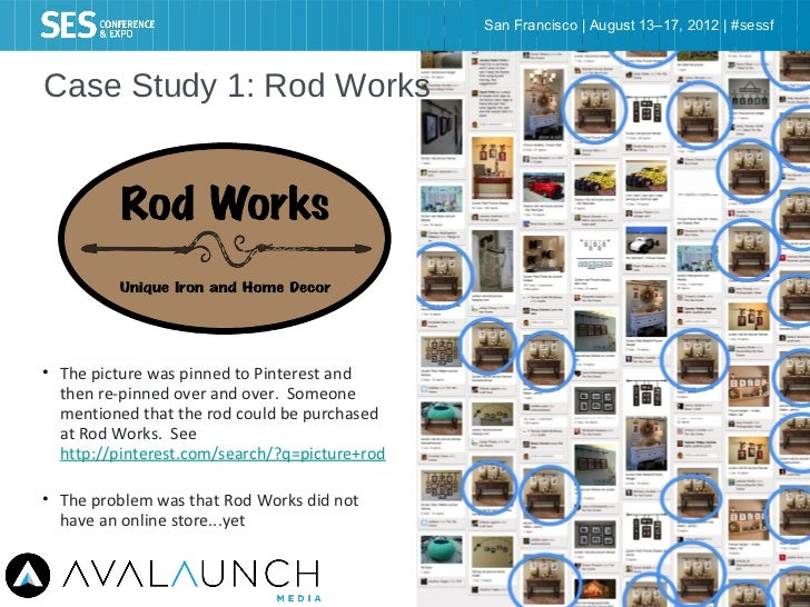 San Francisco   August 13–17, 2012   #sessfCase Study 1: Rod Works• The picture was pinned to Pinterest and  then re-pinne...