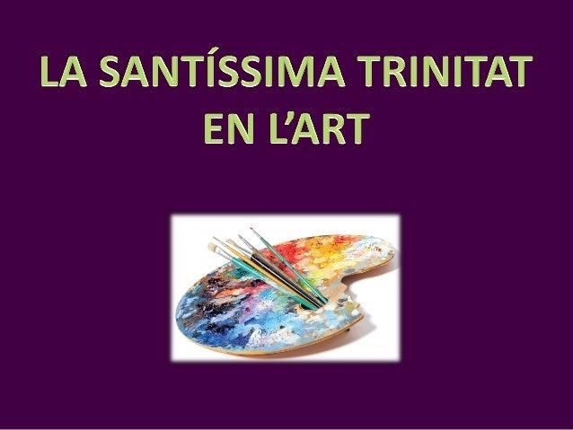 """""""LA SANTA TRINITAT"""" Andrei Rublev Expressa la Trinitat mitjançant tres àngels que en realitat són Déu Pare, Déu Fill i Déu..."""