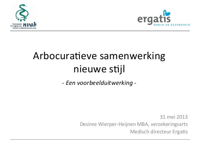 Arbocura(eve  samenwerking   nieuwe  s(jl          -‐  Een  voorbeelduitwerking  -‐    31  mei  ...