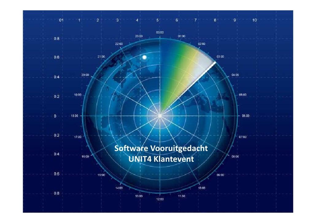 Software Vooruitgedacht    UNIT4 Klantevent