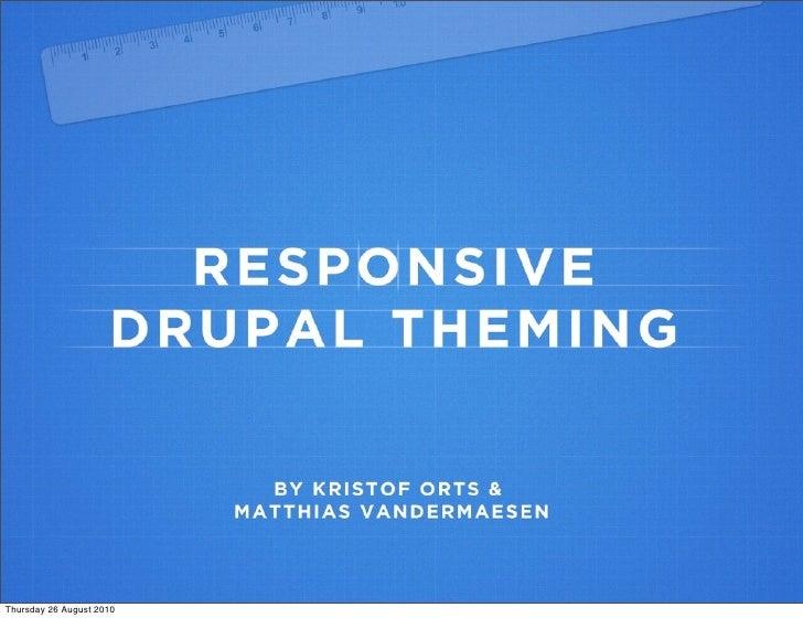 Responsive web design - Drupal theming
