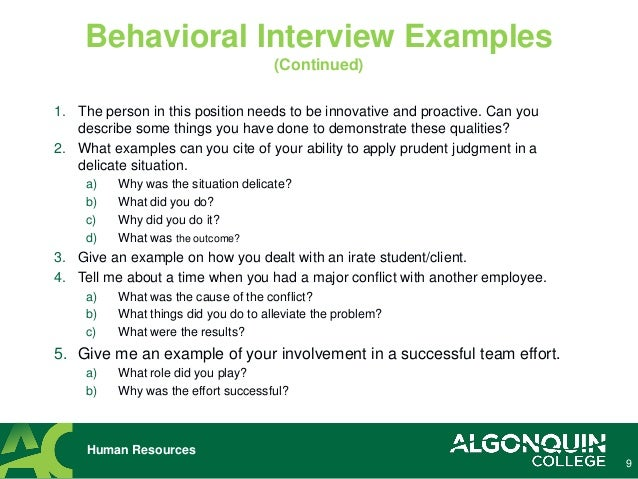 Tips for Successful Job Interviewing: Interview Questions