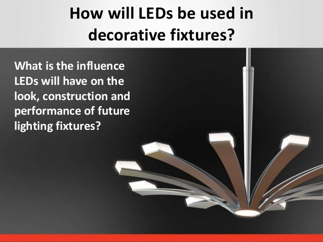 Decorative Lighting Fixtures. Decorative fixtures  Session 4A How LEDs have changed decorative lighting