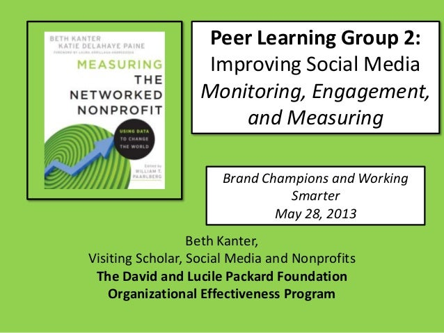 Peer Learning Group 2:Improving Social MediaMonitoring, Engagement,and MeasuringBrand Champions and WorkingSmarterMay 28, ...