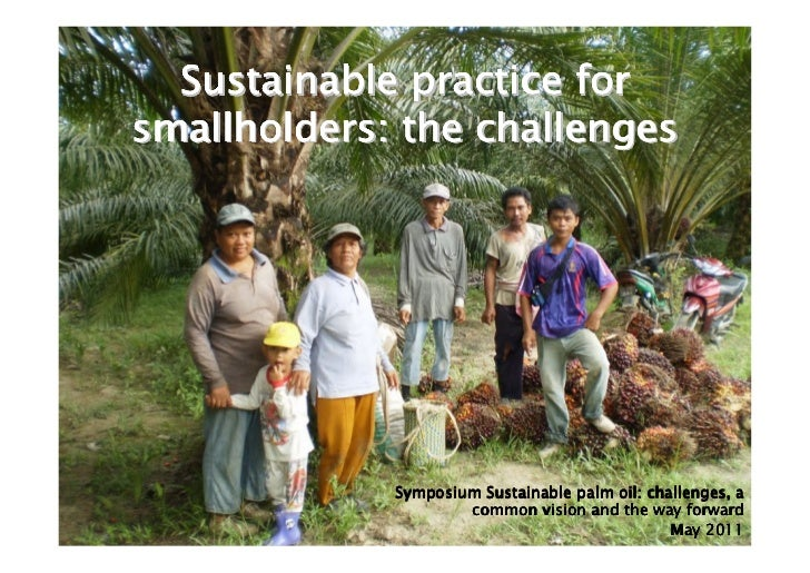 Sustainable practice forsmallholders: the challenges             Symposium Sustainable palm oil: challenges, a            ...
