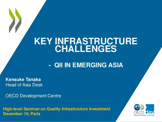 KEY INFRASTRUCTURE CHALLENGES - QII IN EMERGING ASIA High-level Seminar on Quality Infrastructure Investment December 16, ...