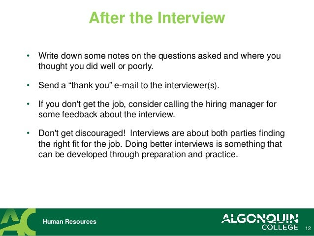 relax 12 12 human resources after the interview - How To Have A Good Interview Tips For A Good Interview