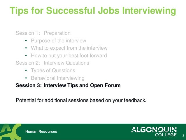 tips for a good job interview