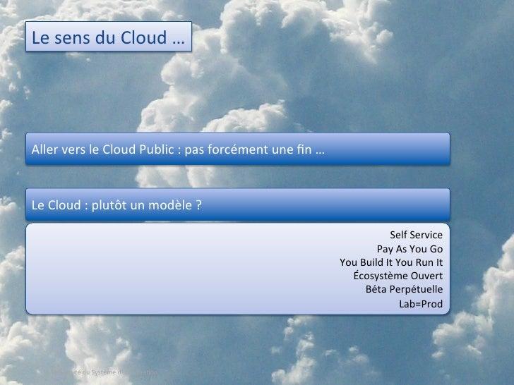 Le Cloud : un catalyseur pour transformer votre DSI ? (USI 2010) Slide 3