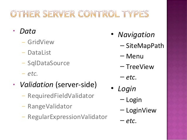 Session iii(server controls)