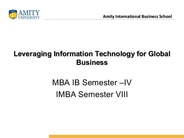 Name of InstitutionAmity International Business SchoolAmity International Business School Leveraging Information Technolog...