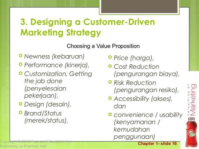 marketing creating and capturing customer value Chapter one marketing: creating and capturing customer value 1 -  what is marketing 1 -  marketer consumer value proposition (product, service, idea) money action 1 -  nascar –what is their secret.