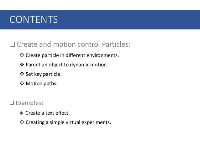 Session 02 – animation particle basics Slide 2