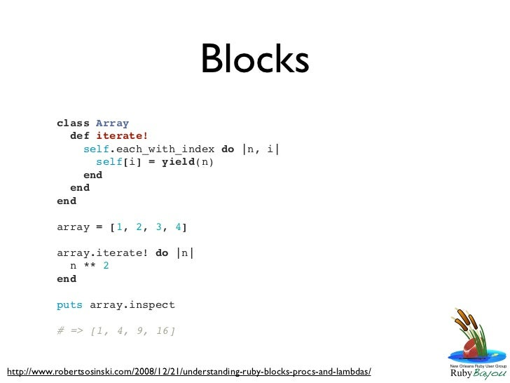 Learn Ruby 2011 - Session 5 - Looking for a Rescue