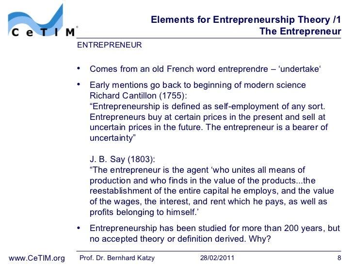 Introduction concept of entrepreneurship business essay