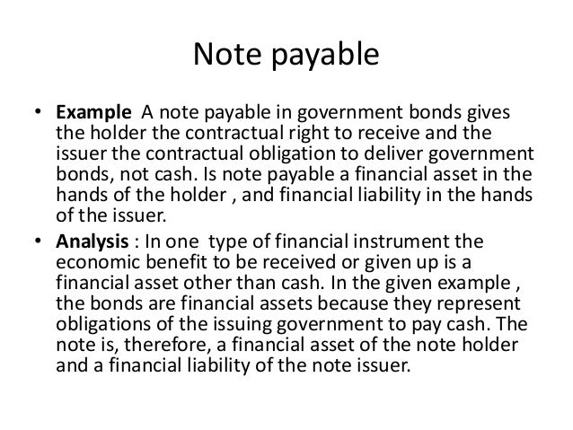 Financial Instruments – Note Payables