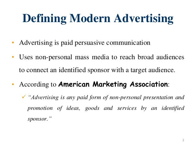 Introduction to advertising & integrated marketing communication Slide 2