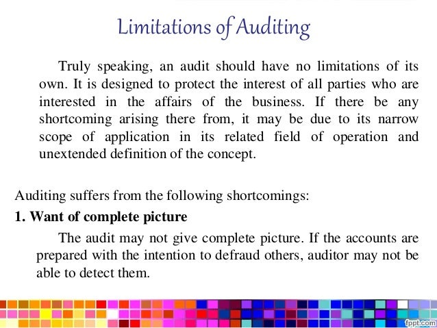 scope and limitations definition