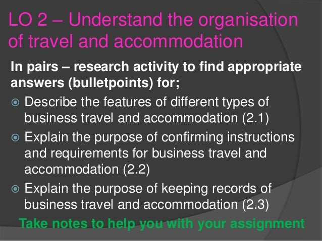 Purpose Of Confirming Instructions For Business Travel