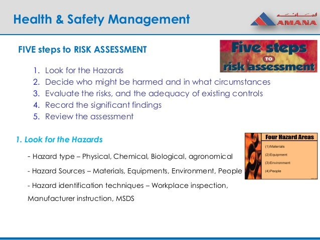 Health And Safety P3 Risk Assessment