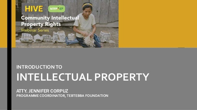 HIVE: Introduction to the Intellectual Property Regime  Slide 2